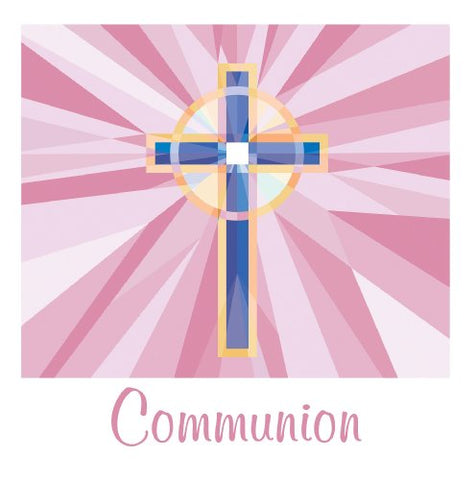 Communion 3-Ply Lunch Napkins, Pink Stained Glass 36 Per Pack