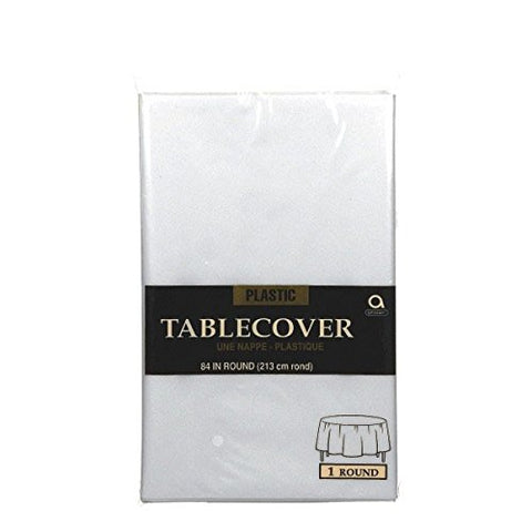 Clear Round Tablecover 84""