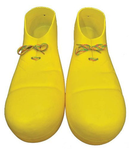 "15"" Big Yellow Plastic Clown Shoes Big Jumbo Parade Party Costume Accessory Prop"