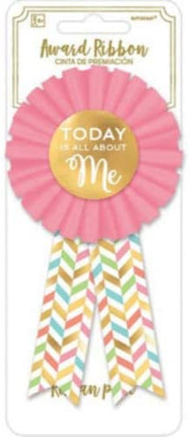 Birthday Ribbon Award Pin Confetti Fun