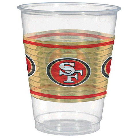 San Francisco 49ers Plastic Cups, 16 oz.