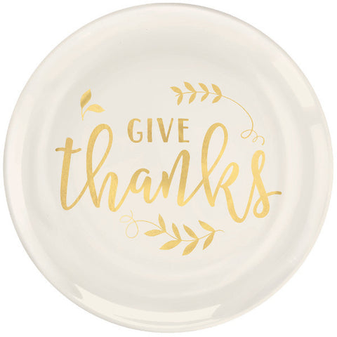 Give Thanks Plastic Coupe Plates, 7 1/2""