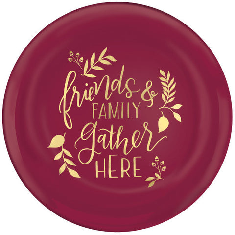 Friends & Family Plastic Coupe Plates, 7 1/2""