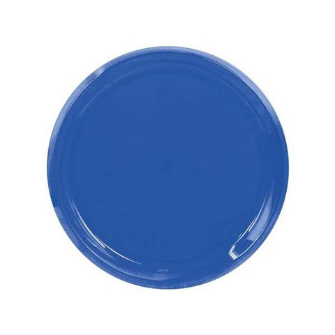 "16"" Plastic Serving Tray Clear Blue"