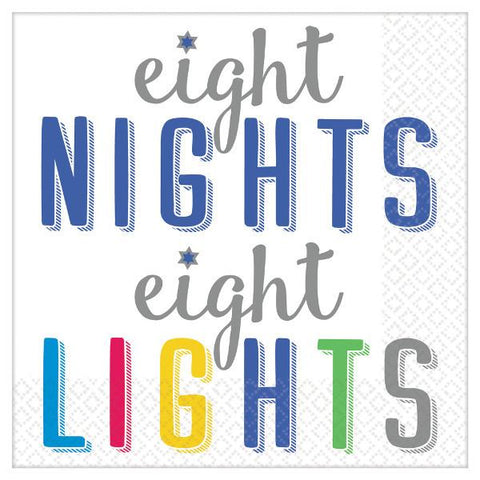 8 Nights, 8 Lights Beverage Napkins (16 Ct.)
