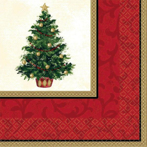 Classic Christmas Tree Beverage Napkins (16 Ct.)