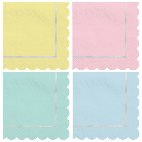Pretty Pastels Beverage Napkins - Easter Spring