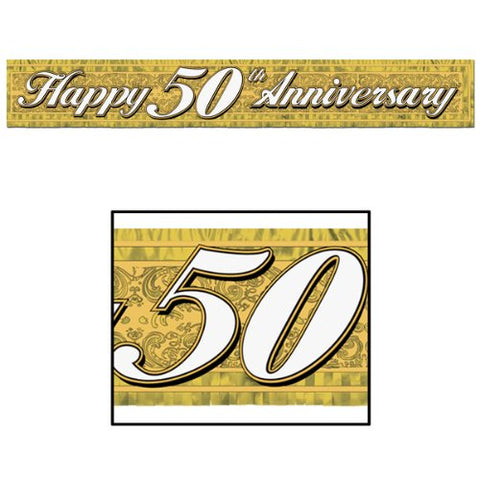 Happy 50th Anniversary Banner