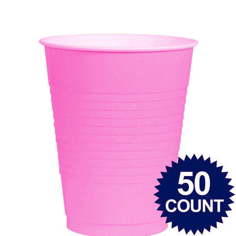 Bright Pink 16oz Cups 50ct Plastic BPP