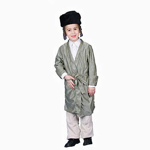 Striped Yerushalmi Chasidic Bekitcha Costume Jewish Rabbi Adult Size Small