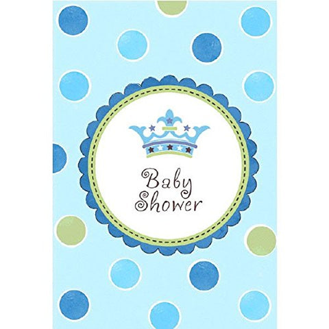 Baby Blue Baby Shower Invitations 8ct