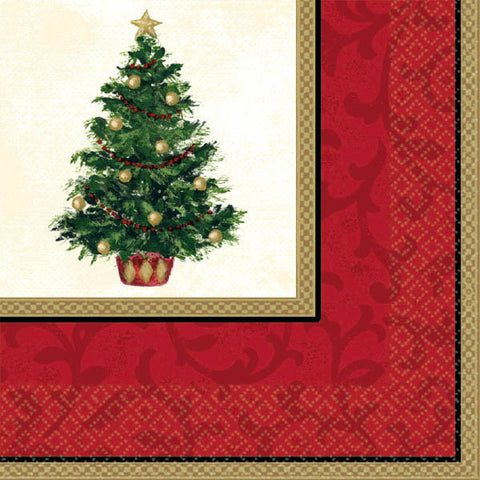 Classic Christmas Tree Dinner Napkins