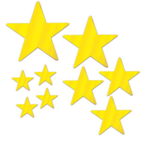 Assorted Size Gold Foil Star Cutouts (9 Ct.)