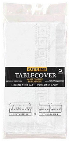 Frosty White 54 x 108 Paper Tablecover