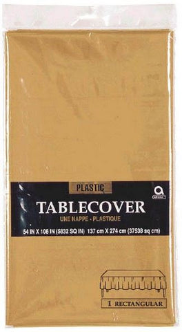 Gold 54 x 108 Rect. Tablecover