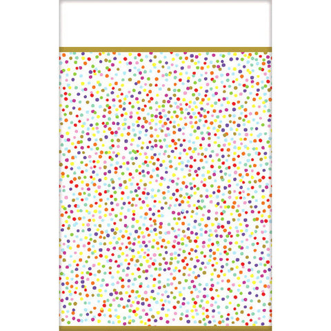 Rainbow Confetti Paper Table Cover