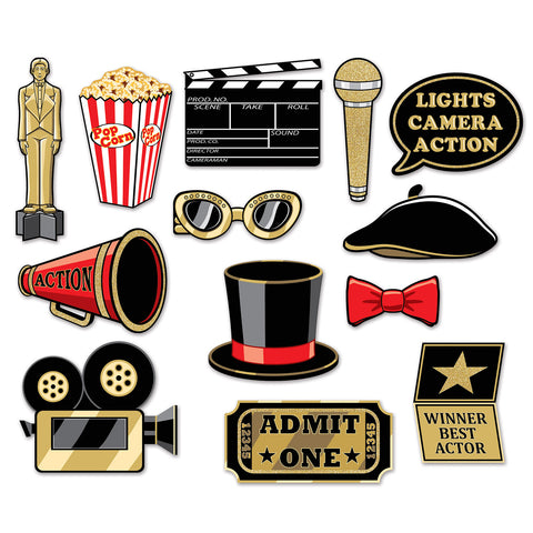 Awards Night Glittered Double-Sided Photo Props (12 Ct.)
