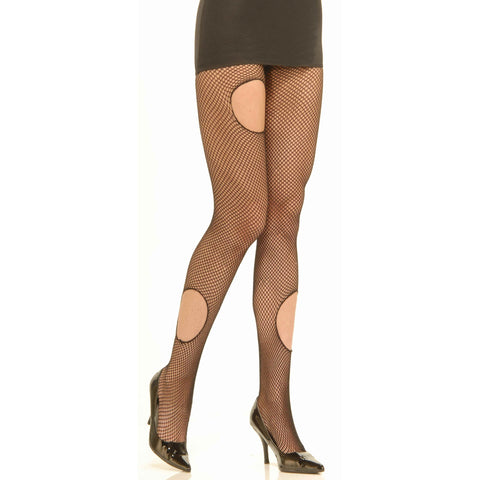 Women's Torn Fishnet Pantyhose