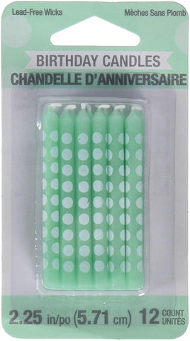 Candles Dots Fresh Mint 12Ct