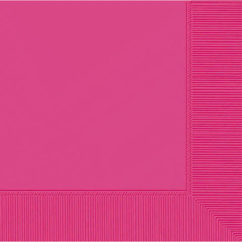 Bright Pink Beverage / Lunch Napkins (50 Ct.)