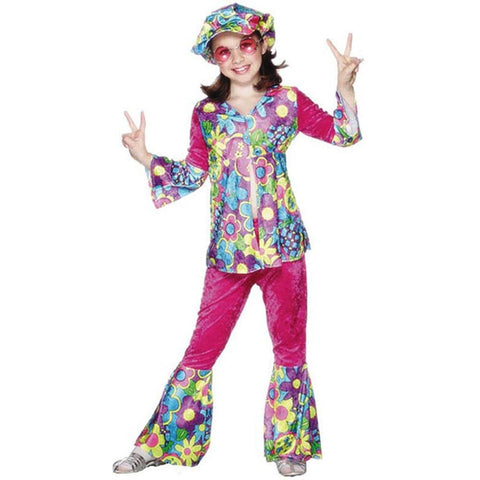 Child's Flower Power Costume (Size: Large 12-14)