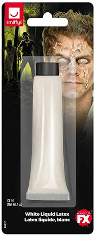 Liquid Latex White Tube 28ml/1 oz, Facepaint/Makeup