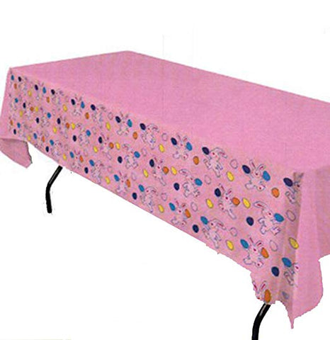 Easter Multicolored Table Cover With Bunnies And Eggs