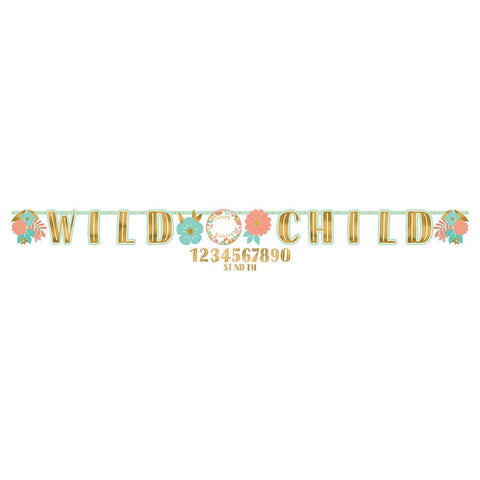 Boho Birthday Girl Jumbo Add‑An‑Age Letter Banner