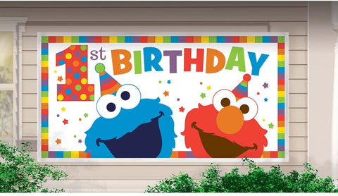 Sesame Street® Elmo Turns One Horizontal Giant Sign Banner