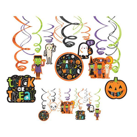 Halloween Friends Foil Swirl Hanging Decorations (30 Ct.)
