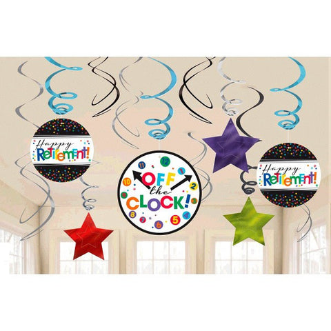 Officially Retired Hanging Foil Swirl Decorations (12 Ct.)