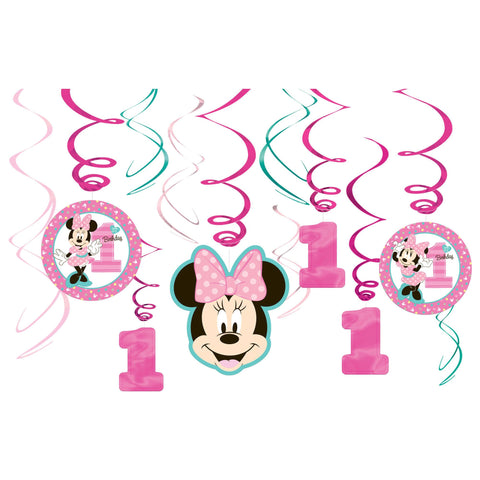 ©Disney Minnie's Fun To Be One Value Pack Foil Swirl Decorations