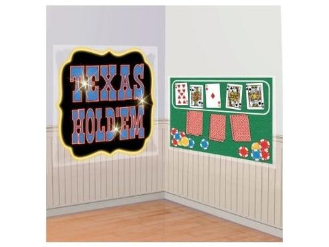 "Scene Setters Texas Hold 'Em Giant Cutouts (65"" x 33.5"")"