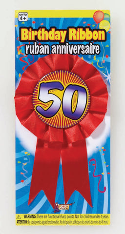 50TH BIRTHDAY AWARD RIBBON