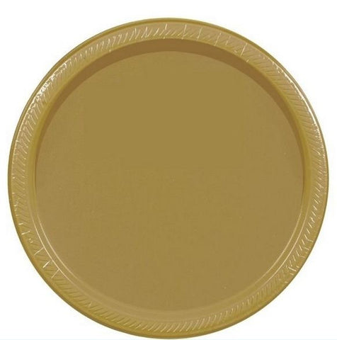 "Gold 7"" Paper Plate 20ct"