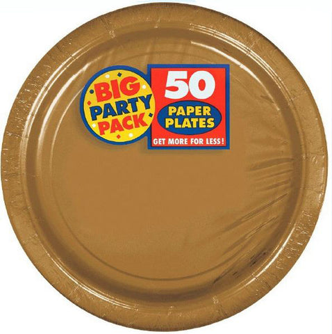 "Gold 7"" Paper Plate 50ct"