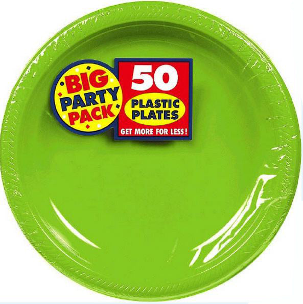 Kiwi Green 7  Plastic Plate 50ct  sc 1 st  Card u0026 Party Giant : 7 plastic plates - pezcame.com