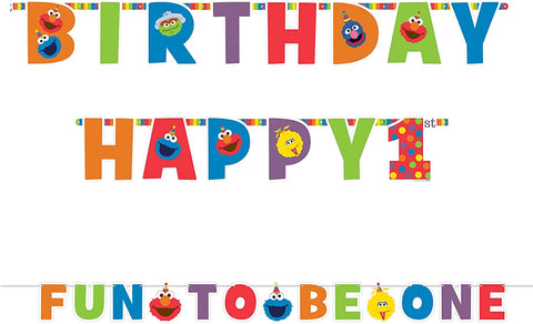 Sesame Street® Elmo Turns One Jumbo Letter Banner Kit