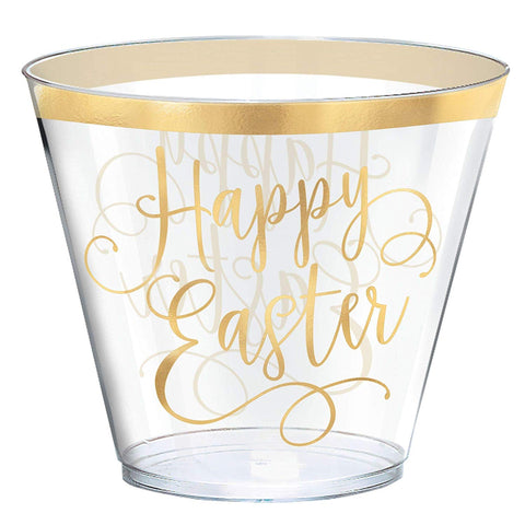 Easter 9oz Tumblers 30ct Clear w/Gold Foil Stamp