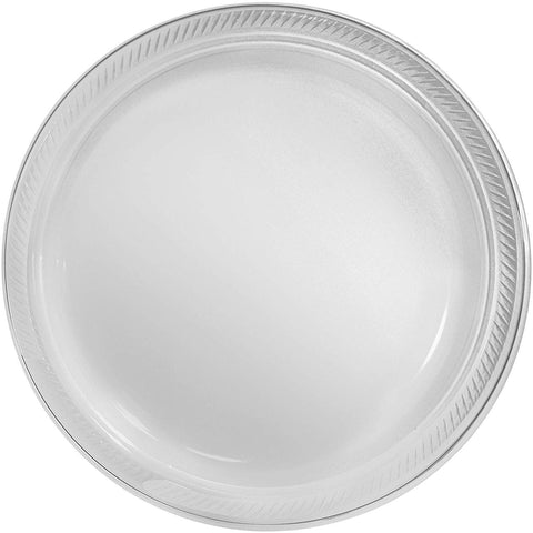 "Big Party Pack Clear Plastic Plates 10.25"" Pack of 50"