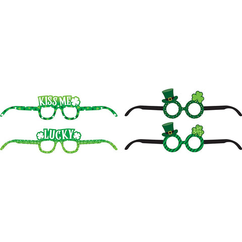 St. Patrick's Day Assorted Paper Eyeglasses