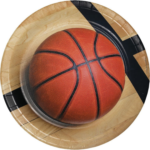 Sports Fanatic Basketball Paper Dinner Plates 8ct