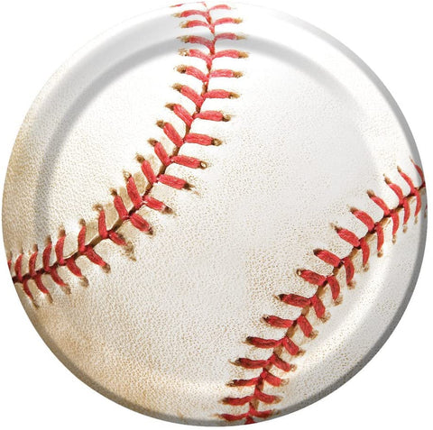 "FANATIC BASEBALL 7"" PLATE 8CT"