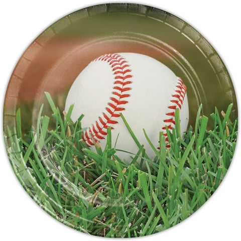 "FANATIC BASEBALL 9"" PLATE 8CT"