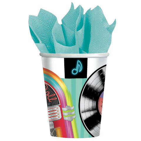 Rock and Roll Sock Hop 9Oz Cups