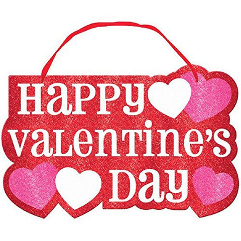 Valentine's Day Large Sign with Ribbon