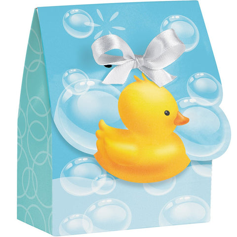 Bubble Bath Foldover Bags with Ribbon Rubber Duckies