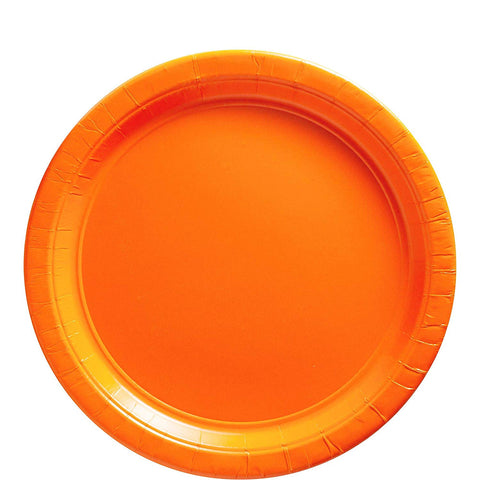 "Big Party Pack Orange Peel Paper Plates  9"" Pack of 50"