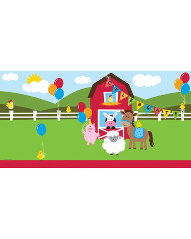 "Farmhouse Fun 54"" x 108"" Plastic Tablecloth"