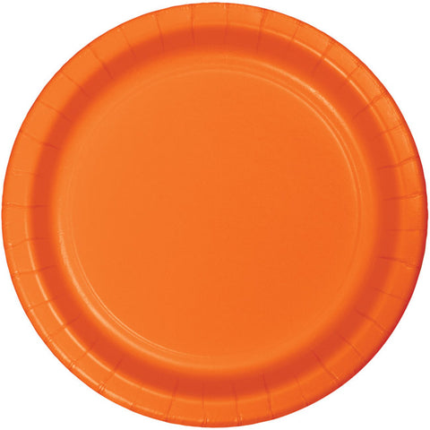 "Sunkissed Orange 10"" Paper Plates"